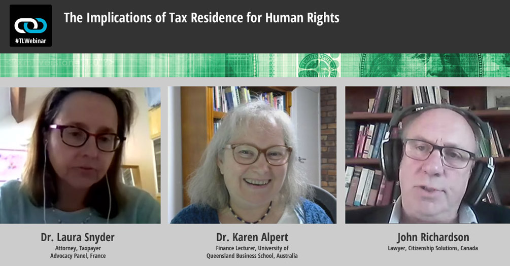Transcript for Our Webinar on Tax Residency & Human Rights Now Available