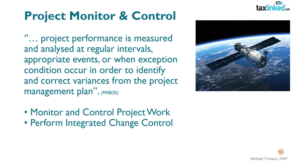 What is project monitoring and control?